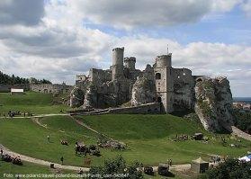 Polônia, ruínas do castelo Ogrodzieniec