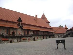 Castelo na cidade de Trakai, perto de Vilnius