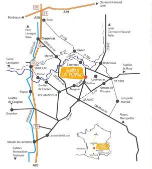 Como chegar ao Gouffre de Padirac, França