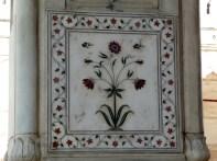 Decoração nas paredes dos palácios, Red Fort, Delhi