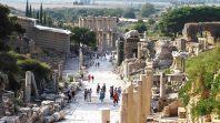 Ruínas romanas em Efeso, na Turquia