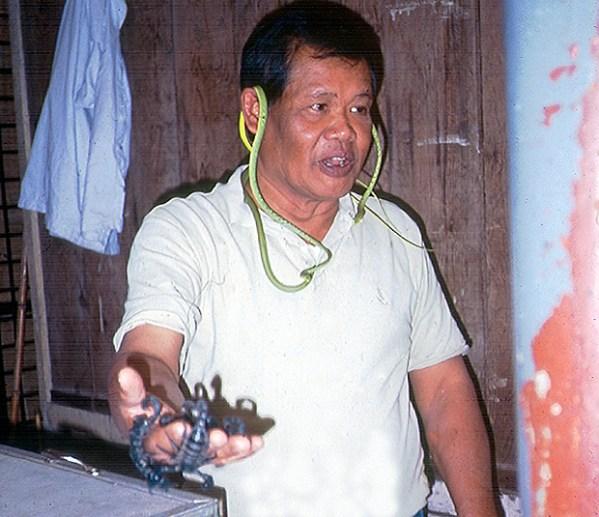Entre víboras e escorpiões, mercado de Bangkok