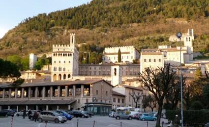 Gubbio, centro histórico medieval, Umbria