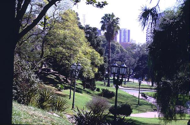 Parque no bairro de Palermo, em Buenos Aires