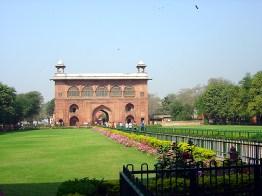 Interior das muralhas do Red Fort, Delhi