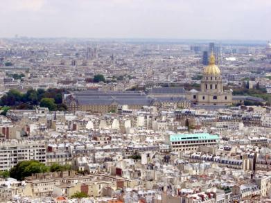 Vista dos Invalides, foto tirada da Tour Eiffel