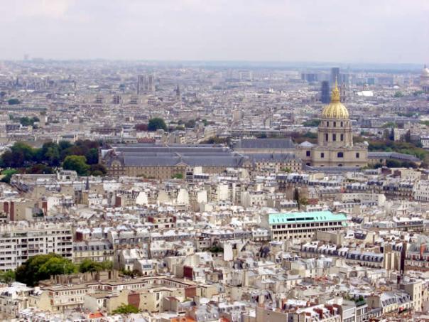Invalides, foto tirada da Tour Eiffel