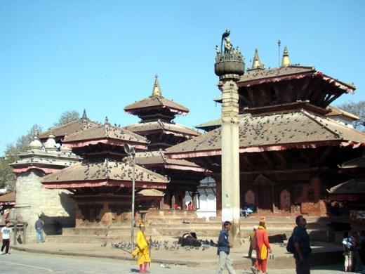 Katmandu, junto do antigo palácio real