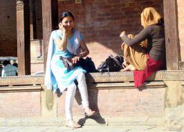 Moça nepalesa em Katmandu