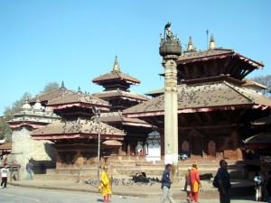 Nepal, um país de custo de vida barato. Na foto Katmandu, a capital