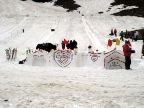 Pista de esqui, no norte da Cachemira