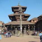 Praça em Bhaktapur, Nepal