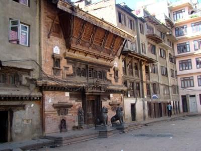 Praça em Katmandu, Nepal