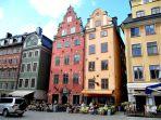 Praça no centro histórico, Estocolomo, Suécia