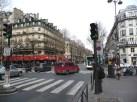 Esquina do bd St-Germain com bd St- Michel, Quartier Latin, em Paris