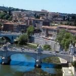 Rio Tibre, em Roma