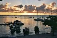 Marina em Salvador, Bahia, pôr do sol