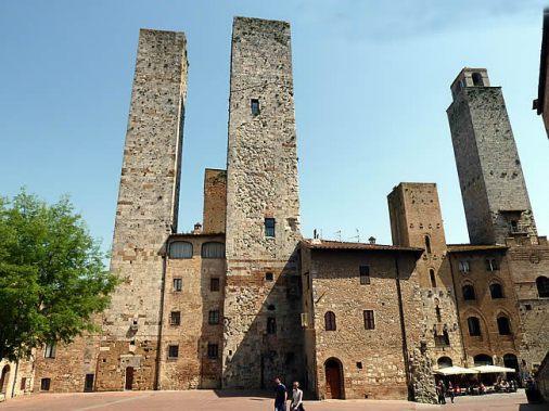 Torres medievais em San Gimignano, Toscana