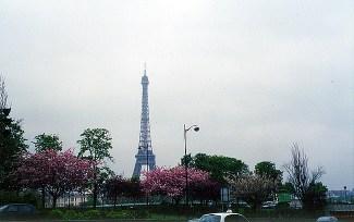 Torre Eiffel vista do Trocadéro, em Paris