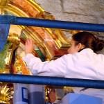 Trabalho de restauração em uma igreja de Valença do Minho