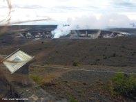 Vulcão ativo em Big Island, Havai