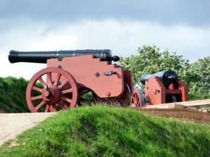 Canhões que protegiam o castelo de Elsingor