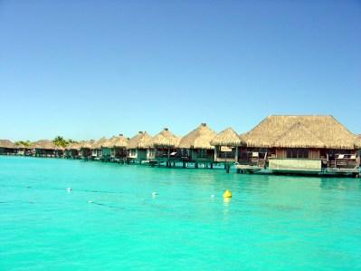 Chalés sobre pilotis, Bora Bora, Tahiti
