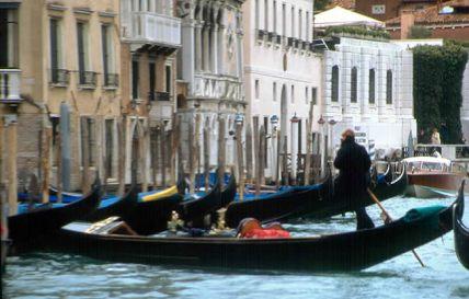 Gôndola, em Veneza, na Itália