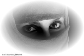 Mulher iraniana em Teerã