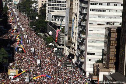 Parada do Orgulho LGTB, em São Paulo