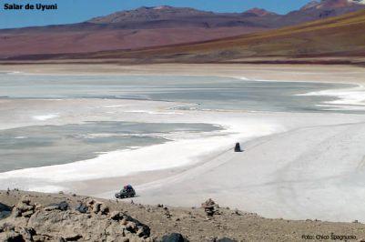 Salar de Uyuni, no altiplano boliviano