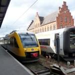 Trens que ligam Elsingor a Copenhagen