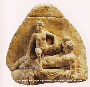 Baixo relevo em mármore, Museu Arqueológico de Nápoles