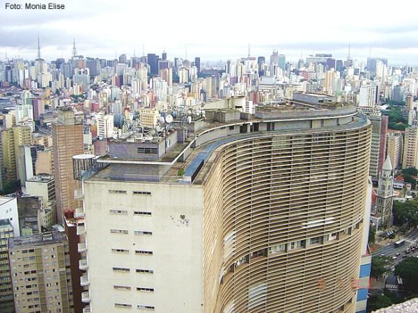 Foto tirada do Ed. Itália, em São Paulo