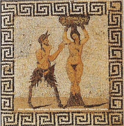 Mosaico no Museu Arqueológico de Nápoles