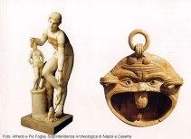 Peças encontradas em Pompeia, no Museu Arqueológico de Nápoles
