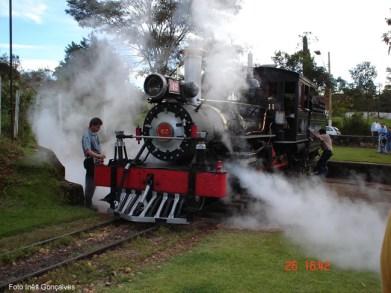 Trem turístico entre São João del Rey e Tiradentes
