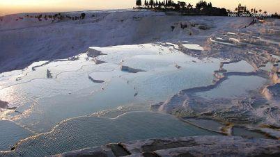 Pamukkale, Turquia, piscinas calcáreas
