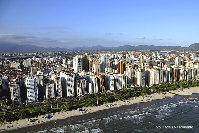 Santos, SP, orla da praia