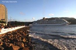 Transatrântico na Ponta da Praia, Santos