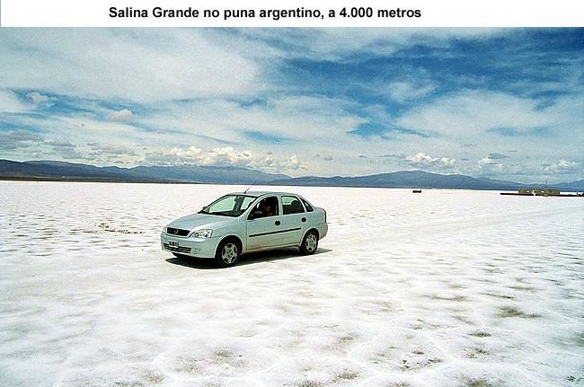 De carro na Salina Grande, Argentina