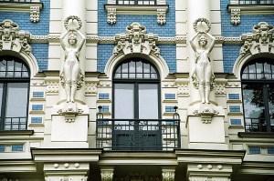 Fachada Art Deco, Riga, Letônia