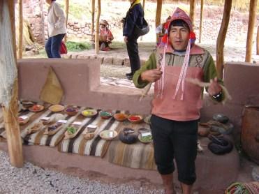 Extratos naturais usados no tingimento de lã, Vale Sagrado