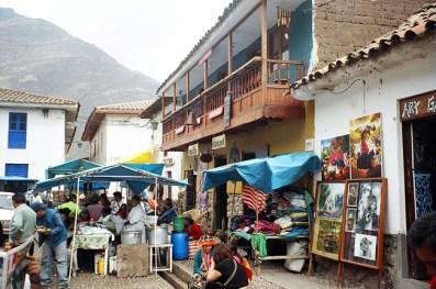Pisac, mercado de artesanatos, Vale Sagrado