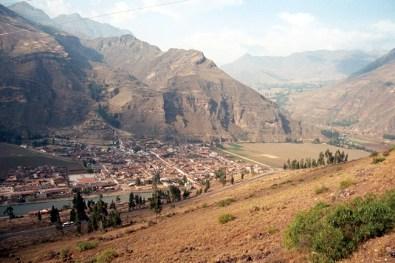 Pisac, vista panorâmica, Valle Sagrado de los Incas no Peru