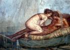 Pompeia, erótica, mural em um bordel de Pompéia