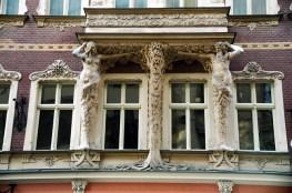 Prédio Art-deco em Riga, Letônia