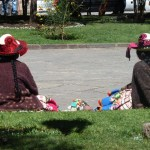Índias na Plaza Nazarenas, Cusco, Peru