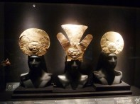 Peças incas em ouro, Museu Larco, Lima, Peru