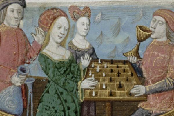 Jogos de salão na Idade Média, em Paris